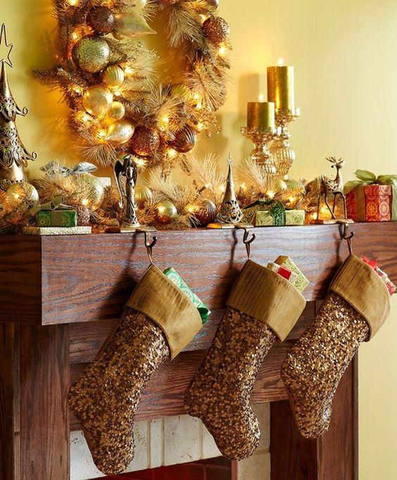 Elegant Christmas Decorating Ideas Elegant Mantel
