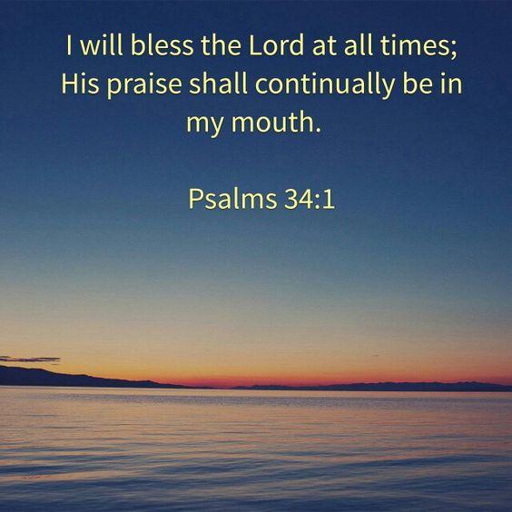 Psalms 34:1: