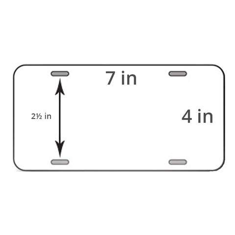 Autosapiens White Motorcycle License Plate Blank Aluminum 0 025 Thickness 0 5mm Standard Us Canada Si License Plate White Motorcycle Motorcycle License