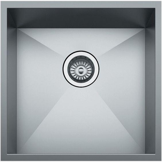 Square Undermount Sink : Mondella 440mm Rococo Single Bowl Square Undermount Sink