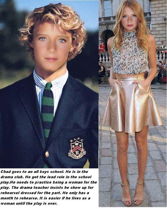 boy becomes school girl