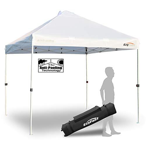 Ezyfast Antipool Pro Commercial Canopy For Rain Or Sunshine White Heavy Duty 10x10 Pop Up Canopy Portable Patente Commercial Canopy Shade Tent Camping Canopy