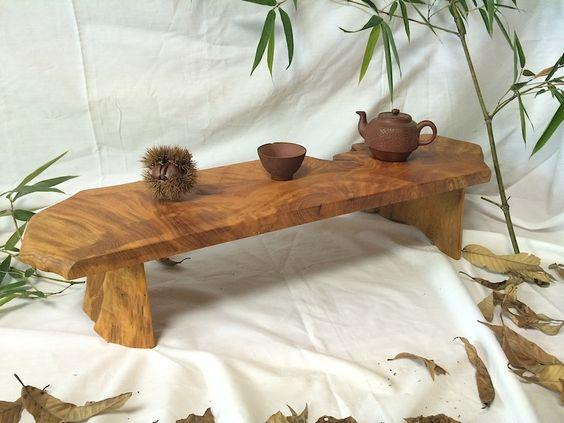 【テーブル】ケヤキ製 ローテーブル・ロング