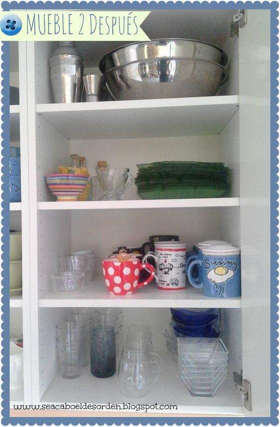 mis muebles para la vajilla y los platos antes y despus