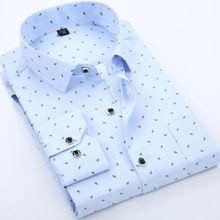 2016 classic men's Dress tuxedo Shirt DP with Long Sleeve Shirts Male Cotton Slim Fit shirt Casual button down shirts for men 80(China (Mainland))