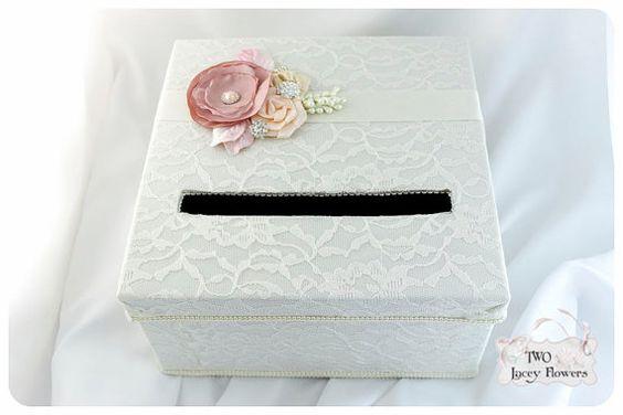 Lace Card Box / Wedding Box / Keepsake Box / by 2laceyflowers