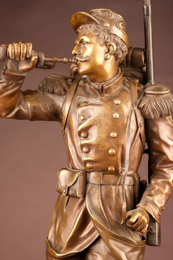 Charles Anfrie (French 1833-1905) Bronze Soldier