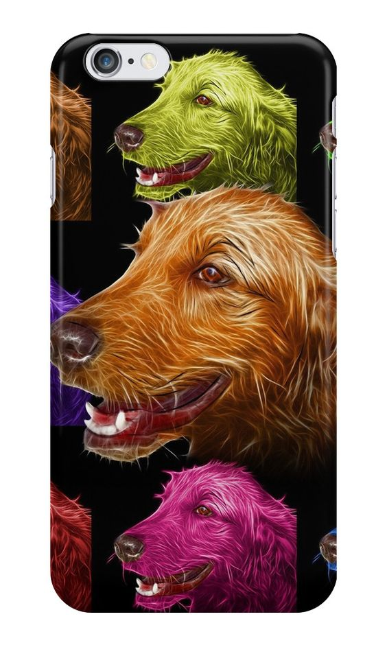 """Golden Retriever Dog Art 4057"" iPhone Cases & Skins by Rateitart 