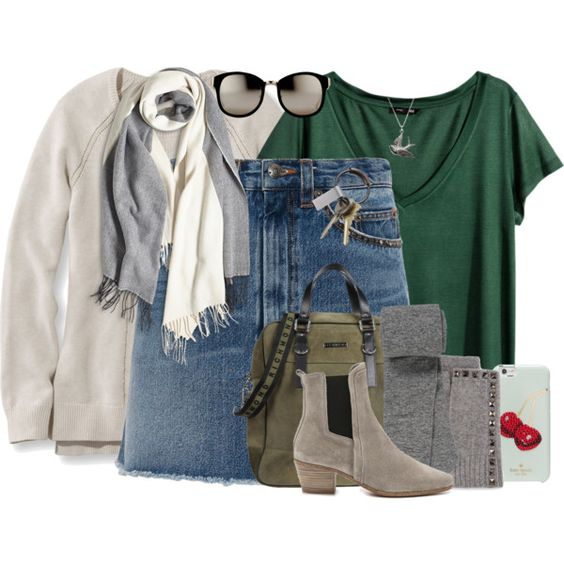 Ride With Me by winscotthk on Polyvore featuring L.L.Bean, H&M, Marc by Marc Jacobs, maurices, IRO, Richmond, Neiman Marcus, Kate Spade, Linda Farrow and CB2