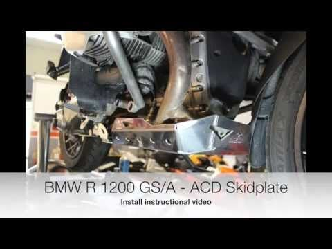 BMW R1200GS Oilheads Skid Plate Mounting Instructional Video