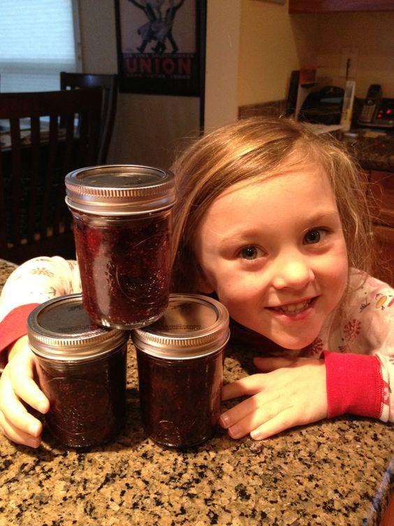 making homemade jam :)