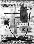 Untitled: Ink & wash on paper. Abraham Walkowitz. ca 1940