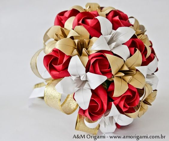 origami lirio como fazer - Pesquisa Google