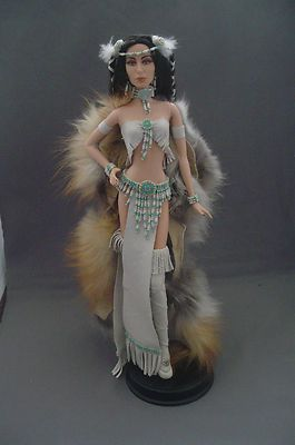 Haha! Cher as an Indian Goddess. The outfit is pretty incredibly though. - ooak Barbie