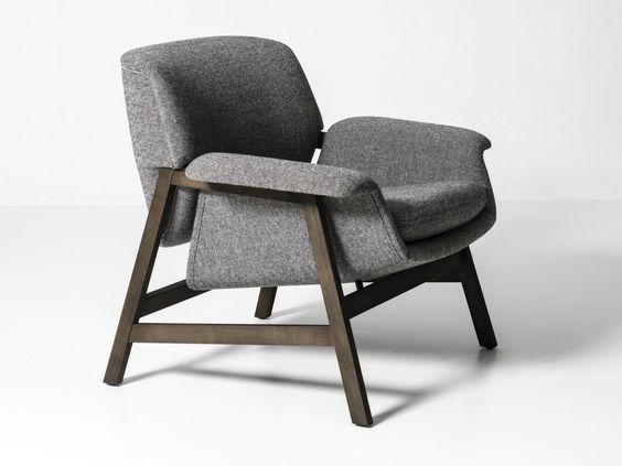 Rosa inspiriertes Sessel Design Weiß