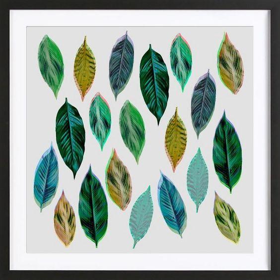 Green Leaves 2 als Gerahmtes Poster von Mareike Böhmer | JUNIQE