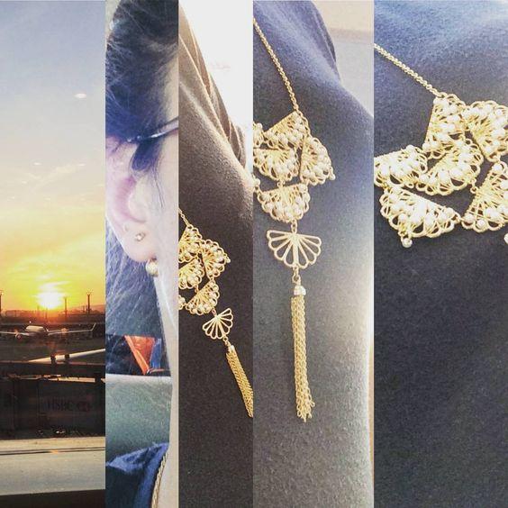 #indo #em #busca #de #tendências #paulaferreira #ny #nyc #agoraeahora#dourado#gold#plate#good#girly#brinco#earings#bella#jour#brasil#mimo#novacolecao#newstyle#colar #necklace