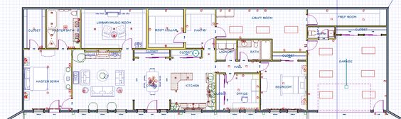 This is the floor plan for our main house, which I designed myself.