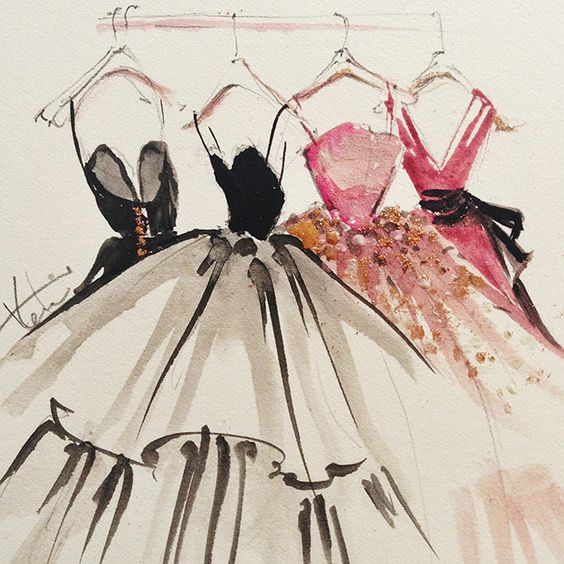 Watercolor Fashion Sketch from Katie Rodgers of Paper Fashion