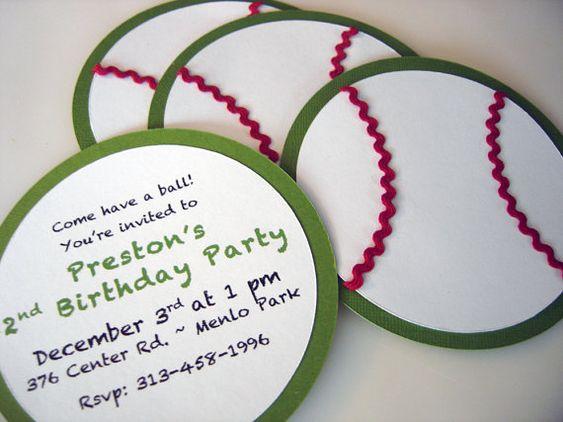 Baseball Invitations by BridalBijou on Etsy, $2.50
