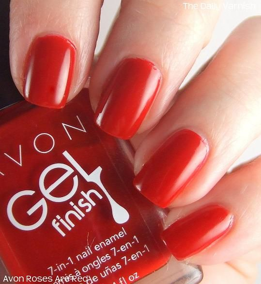 Avon Chrome Nail Powder: Avon Gel Finish -geelikynsilakka Roses Are Red
