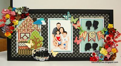 My go-to project idea when I need to make an impactful' gift - Altered a long Ikea frame with lots of gorgeous Maya Road trinket blossoms, and a variety of chipboard pieces. And glitter of course.