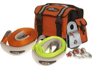 "The ARB Recovery Essentials package came with all the essential items. Comes complete with Winch Pack Recovery Bag, 30' x 3"" Snatch Strap, 10' x 3"" Tree Trunk Protector, Two D-Ring Shackles & Snatch Block."