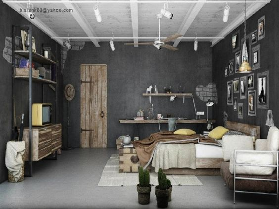 Industrial Chic Going Raw Interior Design Ideas Bedrooms Pinterest Industrial Home