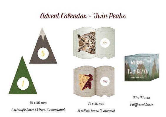 Calendrier de lAvent Twin Peaks - A fabriquer soi même  Advent ...