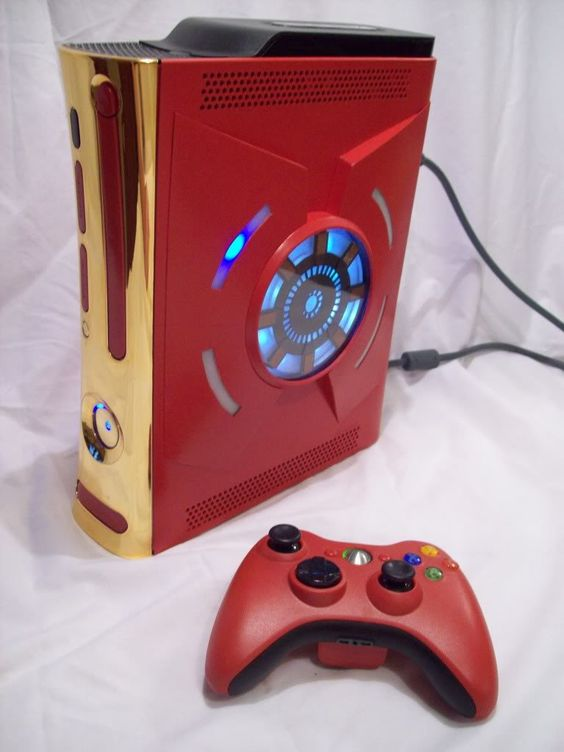 iron man xbox 360 avengers by zimprops on etsy hipster nerd pinterest xbox console. Black Bedroom Furniture Sets. Home Design Ideas