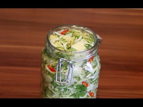 Cách muối dưa bắp cải - Pickled Cabbage - YouTube