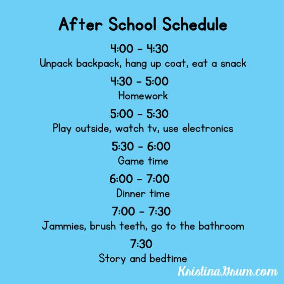 Kristina Grum: An after school schedule can help to improve behavior at home