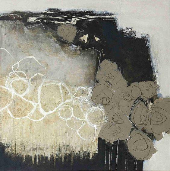silence ( aus der Serie Unbunt ) Acryl-Mischtechnik auf Leinwand - 1,00 m x 1,00…
