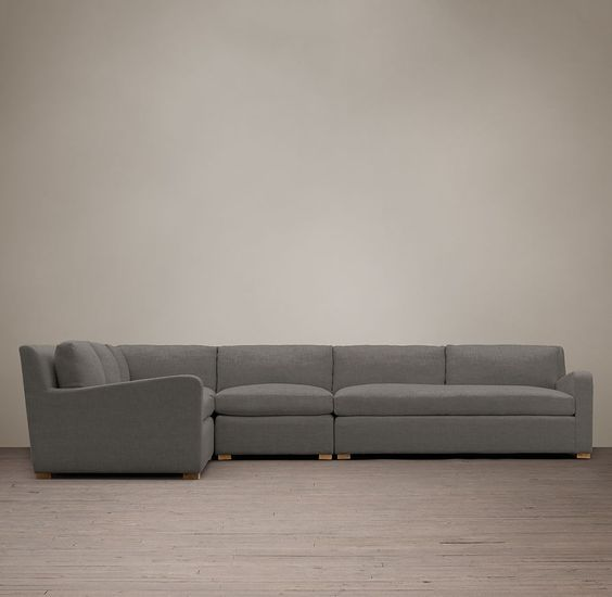 Belgian Slope Arm Upholstered L-Sectional, $9000, RH