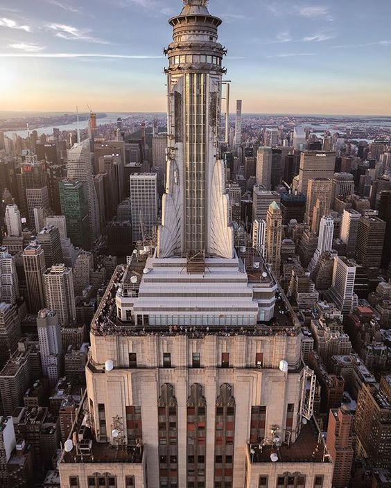 The observation decks on the Empire State Building