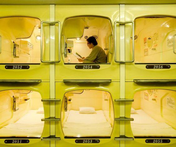 Japanese capsule hotel: