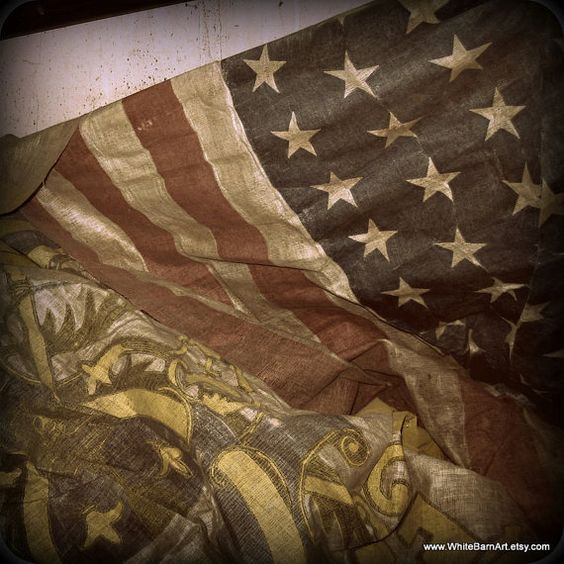 Old Glory   5 x 5 Fine Art Photography   Aged Flag by WhiteBarnArt,