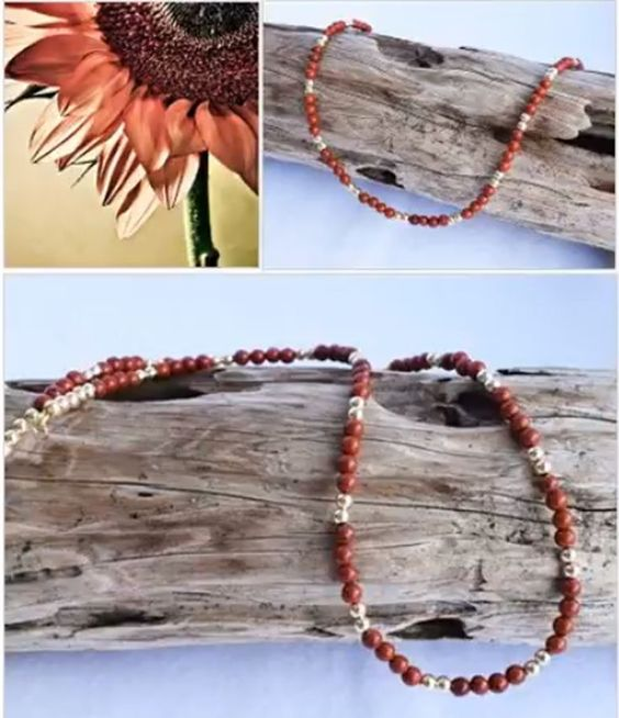 Red Jasper Gold Filled Beaded Necklace Southwestern Jewelry Modern Hippie Hippie Chic Crystal Healing Jewelry Bohemian Jewelry In 2020 Healing Crystal Jewelry Bohemian Jewelry Red Jasper