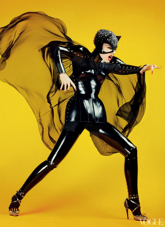 Coco Rocha as Catwoman  Vogue, May 2008