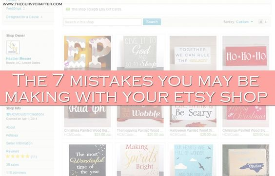 Etsy mistakes you're making