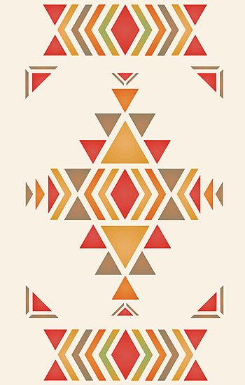 Navajo Stencils And Floors On Pinterest