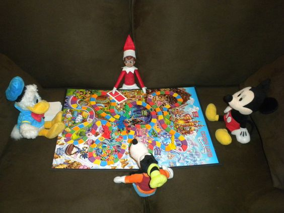 Elf on the Shelf Candy Land Our lovely little elf decided to invite a few friends over for a fun game of Candy Land (one of the best games i...