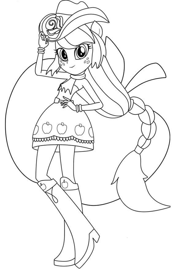 Applejack Equestria Girls Coloring Pages My Little Pony Coloring My Little Pony Applejack Cute Coloring Pages