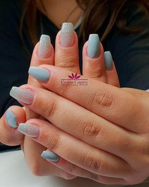 The Best Gray Nail Art Design Ideas Stylish Belles Short Coffin Nails Shiny Nails Designs Best Nail Art Designs