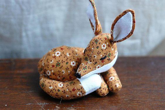 Handmade little sleepy fox, wondertrading.
