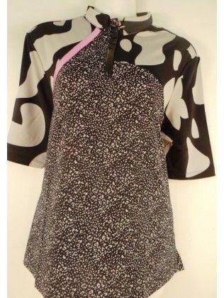 Jamie Sadock Gypsy Short Sleeve Leopard Design Insert Shirt-Gypsy