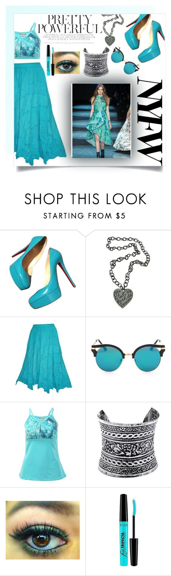 """""""ice queen"""" by smillafrilla ❤ liked on Polyvore featuring Christian Louboutin, Moschino, LULUS and Milani"""