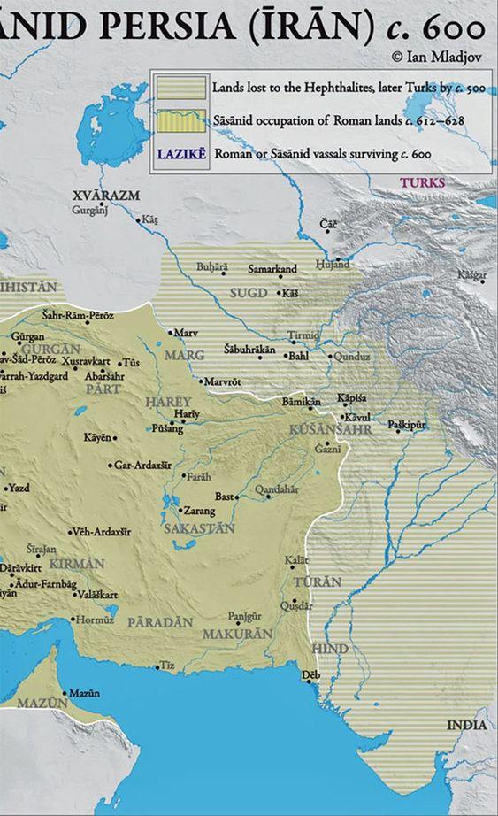 Iran Politics Club: Iran Historical Maps 6: Sassanid Persian Empire, Arab Muslim…