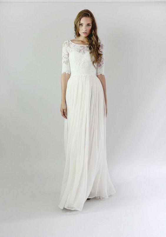 Casual Wedding Dresses For The Minimalist - Wedding- Winter ...