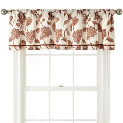 JCPenney Home Bedford Rod-Pocket/Back-Tab Tailored Valance (Burnt Henna)